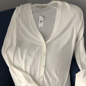 Loft NWT white sweater size M